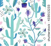 beautiful seamless pattern with ... | Shutterstock .eps vector #433013233
