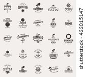 summer vacation label | Shutterstock .eps vector #433015147