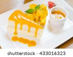 Crepe Cake With Mango Sauce....