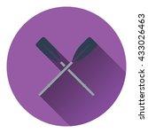 icon of  boat oars. flat design....