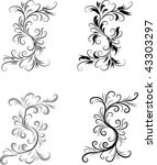 abstract black and white... | Shutterstock .eps vector #43303297
