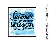 summer calligraphic design... | Shutterstock .eps vector #433033213