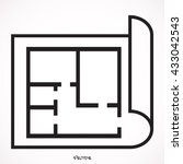 house plan icon. professional ... | Shutterstock .eps vector #433042543