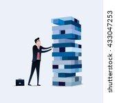 businessman gambling placing... | Shutterstock .eps vector #433047253