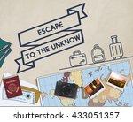 travel journey exploration... | Shutterstock . vector #433051357