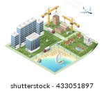 build your own isometric city.... | Shutterstock .eps vector #433051897