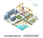 set of isolated high quality... | Shutterstock .eps vector #433051903