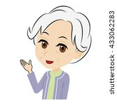 old woman who introduces | Shutterstock .eps vector #433062283