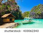filipino boat in the sea  coron ... | Shutterstock . vector #433062343