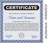 certificate template eps10 jpg... | Shutterstock .eps vector #433063213