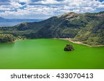 Lake Inside Taal Volcano Near...