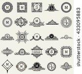 vintage monogram logos design... | Shutterstock .eps vector #433095883