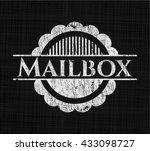 mailbox chalk emblem | Shutterstock .eps vector #433098727