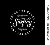 Surfing Lettering. Long Beach...