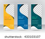 roll up banner stand template | Shutterstock .eps vector #433103107