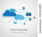 cloud computing  networks... | Shutterstock .eps vector #433131307