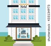hotel service design  | Shutterstock .eps vector #433134973