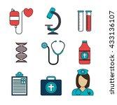 medical healthcare design  | Shutterstock .eps vector #433136107