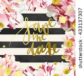 vector invitation template with ... | Shutterstock .eps vector #433137307