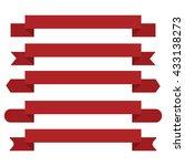 red banner ribbon vector set | Shutterstock .eps vector #433138273