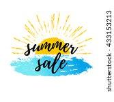 summer sale calligraphic poster ... | Shutterstock .eps vector #433153213
