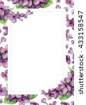 violet lilac on white flower... | Shutterstock . vector #433158547