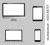 set of realistic computer... | Shutterstock .eps vector #433158757