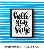 trendy hand lettering poster.... | Shutterstock .eps vector #433165723