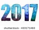 inscription 2017 isolated on... | Shutterstock . vector #433171483