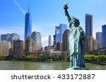 new york city   manhattan  ...   Shutterstock . vector #433172887