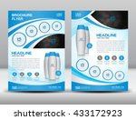 blue business brochure flyer... | Shutterstock .eps vector #433172923