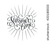 summer time wording isolated on ... | Shutterstock .eps vector #433180033