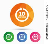every 10 minutes sign icon.... | Shutterstock .eps vector #433181977