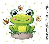Vector Illustration Of A Frog...