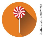 stick candy icon. flat design....