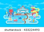 vector illustration of exterior ... | Shutterstock .eps vector #433224493