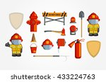 vector colorful vintage flat... | Shutterstock .eps vector #433224763