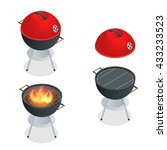 barbecue design elements.... | Shutterstock .eps vector #433233523