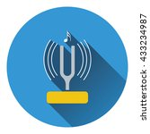 tuning fork icon. flat design....