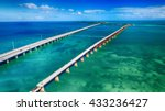 aerial view of bridge... | Shutterstock . vector #433236427