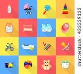 baby sign icon vector set. flat | Shutterstock .eps vector #433239133
