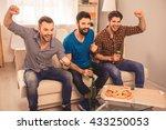 Happy Handsome Group Of Men...