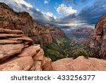 canyon overlook   zion national ... | Shutterstock . vector #433256377