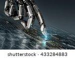 high detailed robotic hand... | Shutterstock . vector #433284883