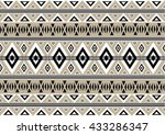 geometric ethnic pattern design ... | Shutterstock .eps vector #433286347