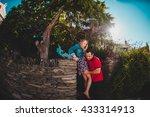 beautiful romantic couple... | Shutterstock . vector #433314913