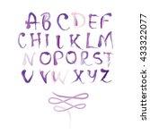 vector hand drawn alphabet....   Shutterstock .eps vector #433322077