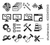alter  modify  fix icon set | Shutterstock .eps vector #433345543