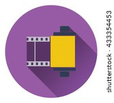 photo cartridge reel icon. flat ...