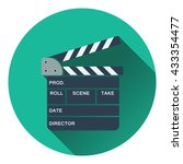 clapperboard icon. flat design. ...